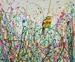 Yellowhammer Meadow by Jennifer Hogwood -  sized 12x10 inches. Available from Whitewall Galleries